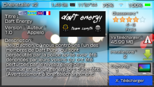 Daft Energy, un homebrew signé Team Zenyth