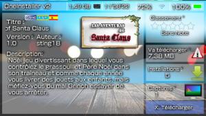 La page du homebrew Santa Claus