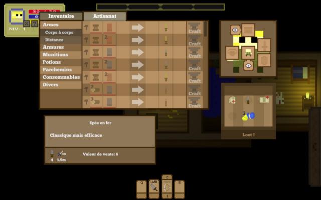 Un système de crafting est présent comme tout RPG qui se respecte...