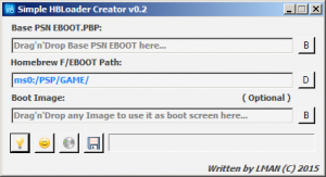 Screenshot de Simple HomeBrew Loader Creator