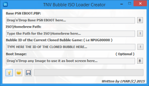 Screenshot du TN-V Bubble ISO/Homebrew Loader Creator