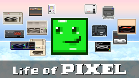 Life of Pixel fait un bon dans le temps et nous plonge dans l'air 8/16-bits.