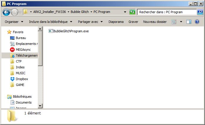 BubbleGlitchProgram PC pour exploit impatchable