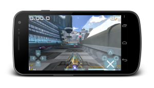 Screenshot de PPSSPP tournant sur un Android