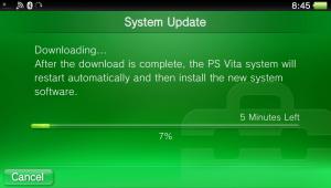 PS Vita Update Mise à jour firmware