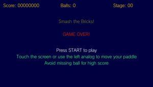 Le jeu s'est correctement lancé sur la PSV!