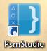 L'icône du PSM Studio sur un ordinateur Windows
