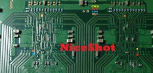 Photo XDR puce circuit imprime cmd sck sdo rst