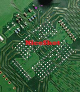 Photo XDR puce circuit imprime sdi