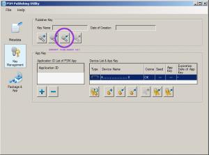 PSM Publishing Utility Key Management Import Publisher Key