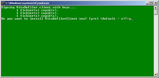 Oui, je le veux (installer le VitaDefiler Client, hein)!
