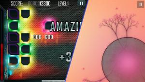À gauche: Surge Deluxe / À droite: Eufloria HD Screenshots pris sur PS Vita