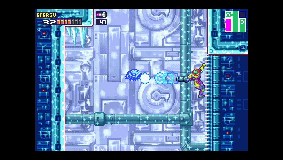Screenshot de Metroid Fusion sur mGBA