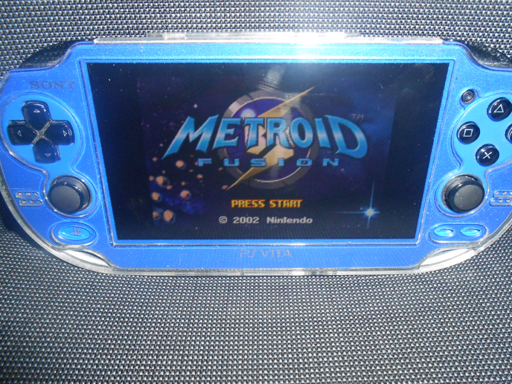 Photo de l'émulateur mGBA en action (Metroid Fusion)