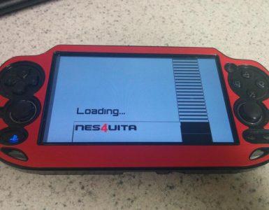 NES4Vita splash screen vignette