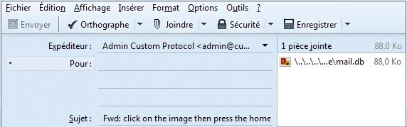 envoyer mail thunderbird erreur fichier non compatible
