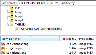 FTP copier donnees informations themes ps vita