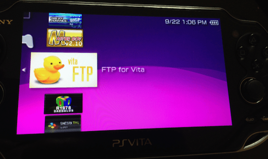 FTP-for-PS-Vita