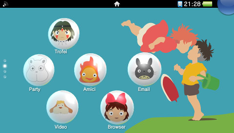 Studio Ghibli, thème PS Vita par Red Squirrel
