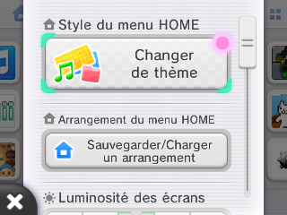 Changer theme 3DS menu home