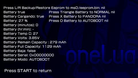 De nombreuses informations sur la batterie sont affichés ici