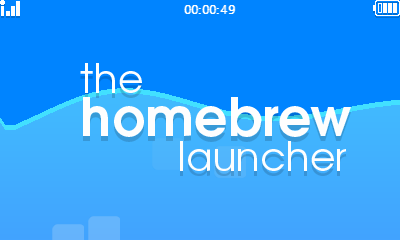 The Homebrew Launcher 3DS screenshot ecran du haut logo
