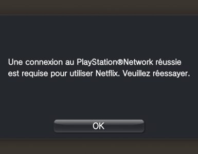 Netflix erreur PSN