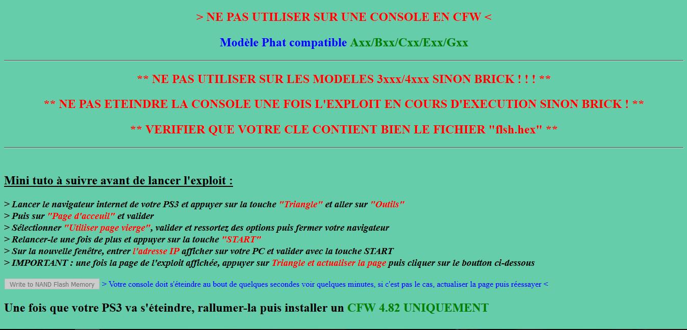 PS3] TUTO - Comment hacker sa PS3 avec l'exploit PS3XPLOIT - Custom