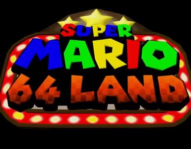 Logo de Super Mario 64 Land, mod réalisé par Kaze Emanuar