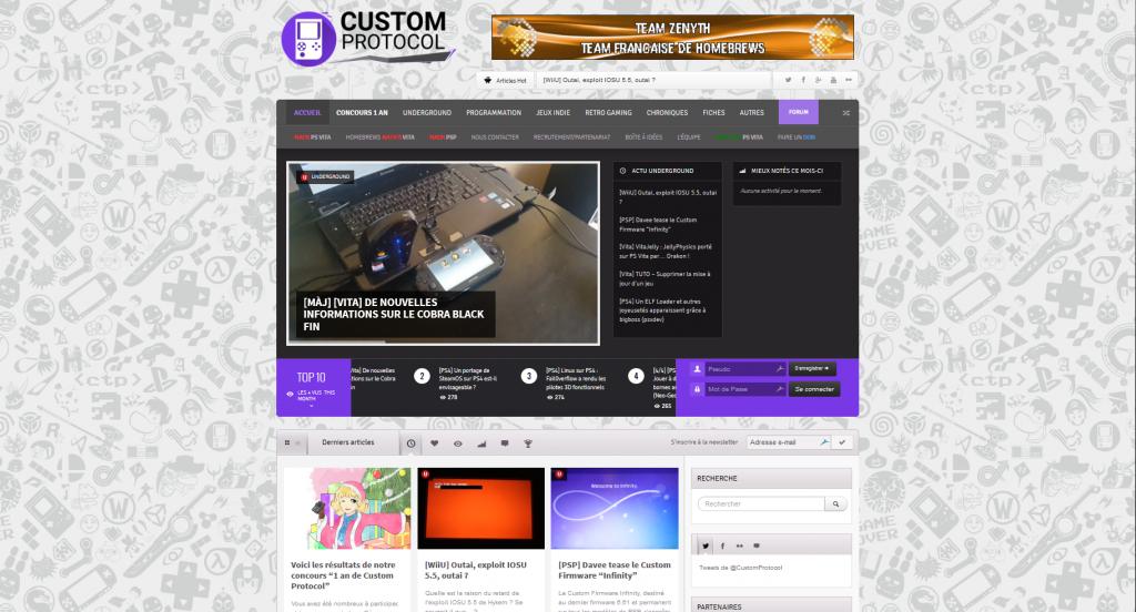 Capture d'écran de Custom Protocol (11 janvier 2016)