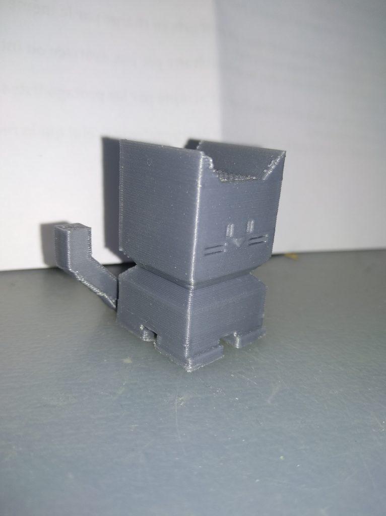 Vous pouvez voir les limites ici d'une imprimante dite FDM