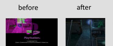 Comparatif entre une capture d'écran prise via la méthode habituelle (à gauche) et via le plugin PSOneScrot (à droite)