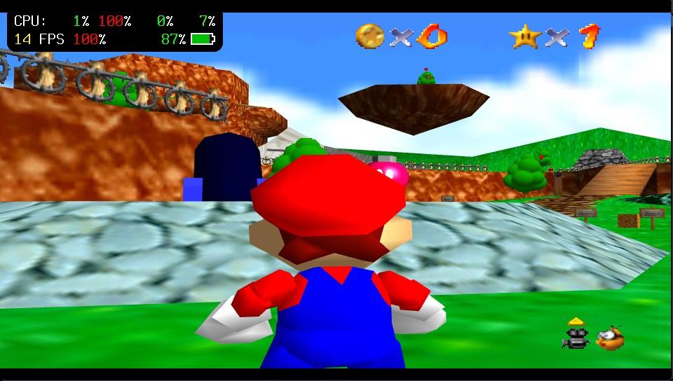 Super Mario 64 sur PS Vita