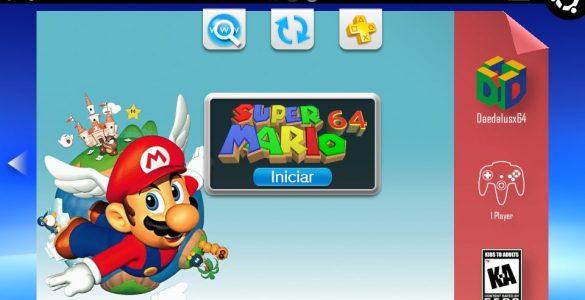 Exemple de page personnalisée pour Super Mario 64